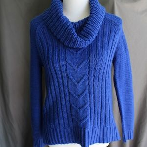 Soft Sparkly Cowl Neck Sweater